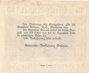 10 Heller (Grünau) -  revers