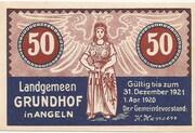 50 Pfennig (Grundhof in Angeln) – avers