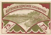 75 Pfennig (Grundhof in Angeln) – revers
