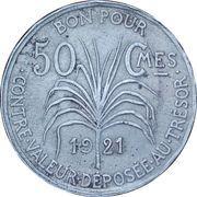 50 centimes – revers