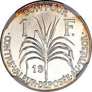 1 franc (Essai, Argent) – revers