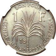 1 franc (Essai, Bronze) – revers