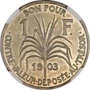 1 franc (Piéfort) – revers