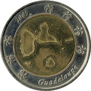 2 Euros Guadeloupe (essai) – avers