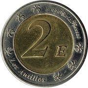 2 Euros Guadeloupe (essai) – revers