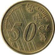 50 Euros cents Guadeloupe essai – revers