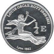 ¼ Euro essai (Guadeloupe) – revers