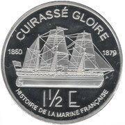 1½ Euro essai (Guadeloupe) – revers