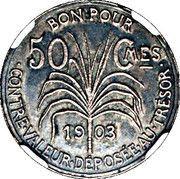 50 centimes (Essai, Argent) – revers