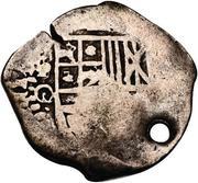 2 reales - Philip IV (contremarque sur monnaie coloniale) – avers