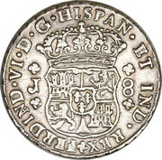 8 reales - Ferdinand VI (monnaie coloniale) – avers
