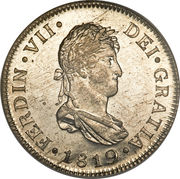 2 reales - Ferdinand VII (Colonial Milled Coinage) – avers