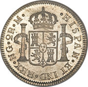 2 reales - Ferdinand VII (Colonial Milled Coinage) – revers