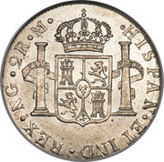2 reales - Charles IV (monnaie coloniale) – revers