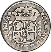 2 reales - Charles III (monnaie coloniale) – avers