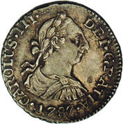 ½ real - Charles III (monnaie coloniale) – avers