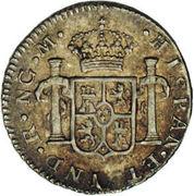 ½ real - Charles III (monnaie coloniale) – revers