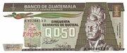 0,50 Quetzal – avers