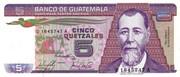 5 Quetzales – avers
