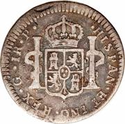1 real - Charles III (monnaie coloniale) – revers