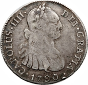 4 reales - Charles IV (monnaie coloniale) – avers