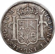 4 reales - Charles IV (monnaie coloniale) – revers