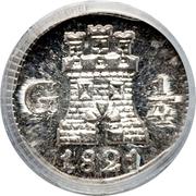 ¼ real - Ferdinand VII (monnaie coloniale) – revers