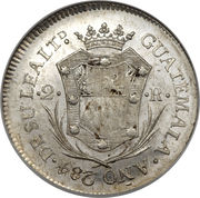 2 Reales - Fernando VII (Proclamation coinage) – revers