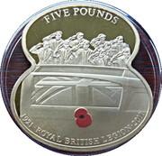 5 Pounds Elizabeth II (90 Years of The Royal British Legion-Repatriation) – revers