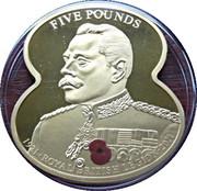 5 Pounds Elizabeth II (90 Years of The Royal British Legion-Earl Douglas Haig) – revers