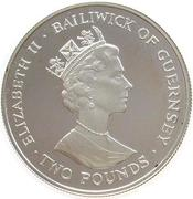 2 pounds - Elizabeth II (3eme effige, reine mère) – avers