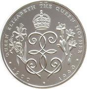 2 pounds - Elizabeth II (3eme effige, reine mère) – revers