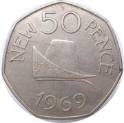 50 new pence - Elizabeth II -  revers