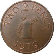 2 pence - Elizabeth II -  revers