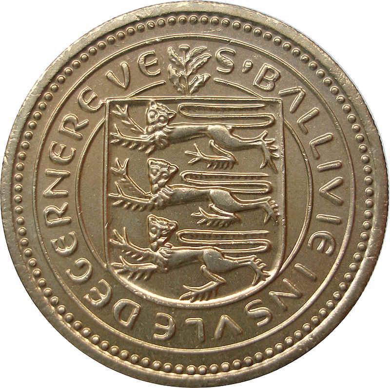 1 pound - Elizabeth II - Guernesey – Numista