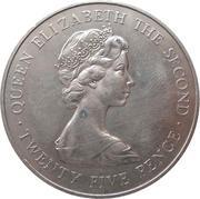 25 pence - Elizabeth II (2eme effigie; visite royale) -  avers