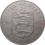 25 pence - Elizabeth II (2eme effigie; visite royale) -  revers