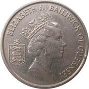 5 pence - Elizabeth II (3eme effigie; grand module) -  avers