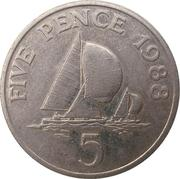 5 pence - Elizabeth II (3eme effigie; grand module) -  revers