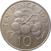 10 pence - Elizabeth II (3eme effigie, grand module) -  revers