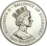 2 pounds - Elizabeth II (3eme effigie; Empereur Moth) – avers