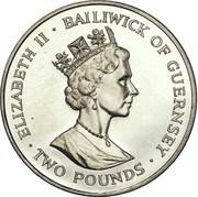 2 pounds - Elizabeth II (3eme effigie; papillon) – avers