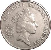 5 pence - Elizabeth II (3eme effigie, petit module) -  avers