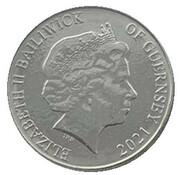 10 Pence - Elizabeth II - Guillemot – avers