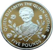 5 Pounds - Elizabeth II (la Reine mère) – revers