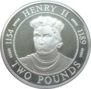 2 Pounds - Elizabeth II (Roi Henry II) – revers