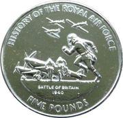 5 Pounds - Elizabeth II (Battle of Britain 1940) – revers