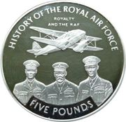 5 Pounds - Elizabeth II (Royalty and the RAF) – revers