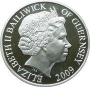 5 Pounds - Elizabeth II (40ème anniversaire de l'atterrissage sur la Lune) – avers