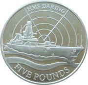 5 Pounds - Elizabeth II (HMS Daring) – revers